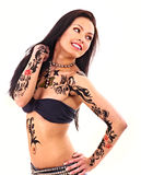 Girl with body art. Royalty Free Stock Photography