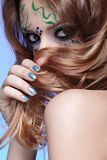 Girl with bodyart Royalty Free Stock Photo