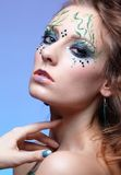 Girl with bodyart Royalty Free Stock Image