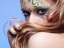 Girl with bodyart Royalty Free Stock Photography