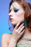 Girl with bodyart Stock Photos