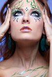 Girl with bodyart Royalty Free Stock Images