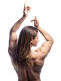 Girl bodybuilder stock image