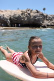 Girl Boggie Boarder Stock Image