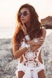 Girl in boho style Stock Photo