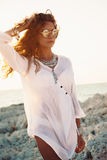 Girl in boho style Stock Photography