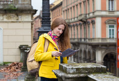 Girl at the Bologna street Royalty Free Stock Photo