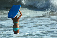 Girl With Boogie Board Royalty Free Stock Photo