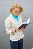 Girl with the book. Stock Photos
