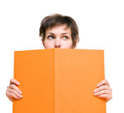Girl with book Stock Images