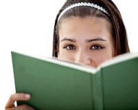 Girl with a book Stock Photo