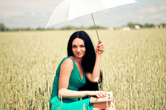 Girl with book stock photos