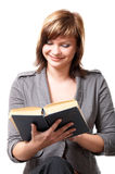 Girl with a book Stock Image