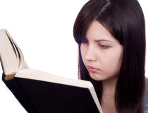 The girl with the book Royalty Free Stock Photo