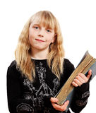 Girl with book. Royalty Free Stock Photography