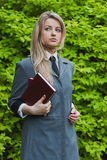 Girl with a book Stock Photography