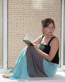 The girl with book Stock Photography