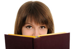 Girl with the book Stock Photography
