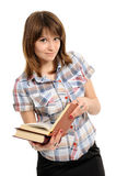 Girl with  book Stock Photos