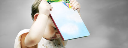 girl with a book Stock Images