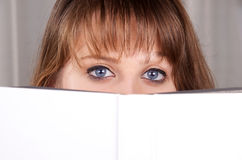 Girl and a book Royalty Free Stock Photography