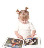The girl with the book. Royalty Free Stock Image
