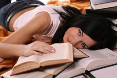 Girl and book Royalty Free Stock Photography