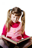 Girl and book Stock Image