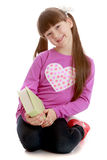 Girl with a book in his hands Royalty Free Stock Images