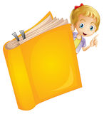 A girl and a book Stock Images