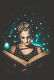 Girl with a book. Steampunk girl with a book Royalty Free Stock Photos