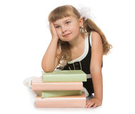 Girl with book Royalty Free Stock Image
