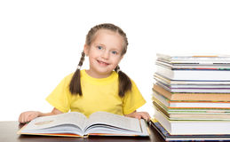 Girl with book on white. Girl with book on a white Stock Images