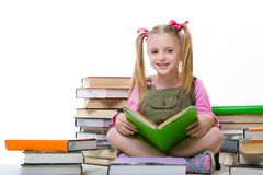 Girl with books Stock Image
