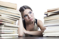 Girl with books Royalty Free Stock Image