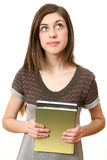 The girl with books Royalty Free Stock Images