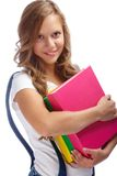 Girl with books Stock Photography