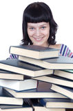 Girl and books Royalty Free Stock Photo