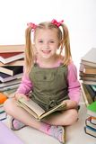 Girl with books Royalty Free Stock Photo