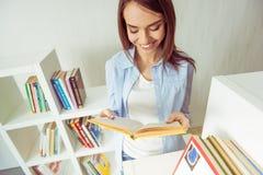 Girl with books Stock Photos