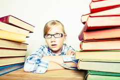 Girl with books Royalty Free Stock Photos