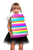 Girl with books Stock Photos
