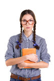 Girl with books Royalty Free Stock Photography
