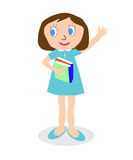Girl with books Royalty Free Stock Images