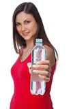 Girl With Bottle Stock Image