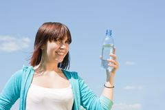 Girl with bottle of water Stock Image