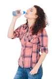Girl with bottle of water Royalty Free Stock Image