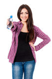Girl with bottle of water Royalty Free Stock Images