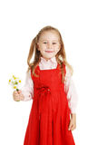 The girl with a bouquet of colors in a hand Royalty Free Stock Image