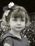 Girl with a bow stock photography